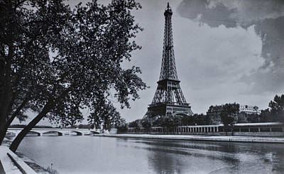Vintage Paris Poster by Georgia Fowler