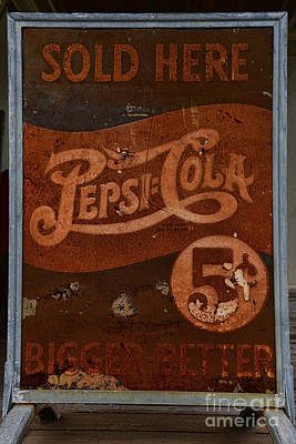 Vintage Pepsi Sign Poster by Paul Ward