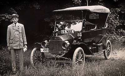 Vintage Photo Of Rural Mail Carrier - 1914 Poster