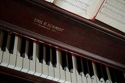 Vintage Piano Poster by Chuck De La Rosa