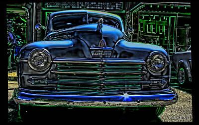 Vintage Plymouth Art Indigo Dreams Poster by Lesa Fine
