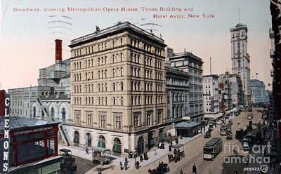 Vintage Postcard Of Broadway Poster