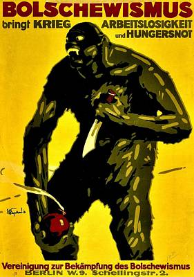 Vintage Poster - Germany - Down With Bolshevism Poster