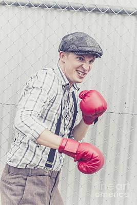 Vintage Prison Yard Boxer Settling The Score Poster