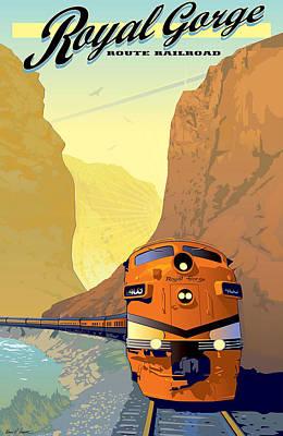 Vintage Railroad Poster Poster by Allen Beilschmidt