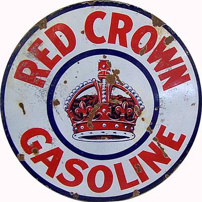 Vintage Red Crown Gasoline Metal Sign Poster by Marvin Blaine