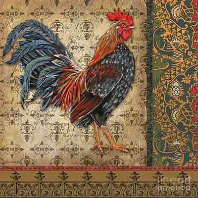 Vintage Rooster-b Poster