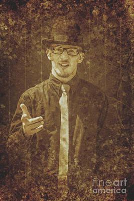 Vintage Salesman Poster