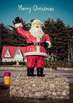 Vintage Santa Claus Christmas Card Poster