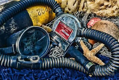 Vintage Scuba Gear Poster by Paul Ward
