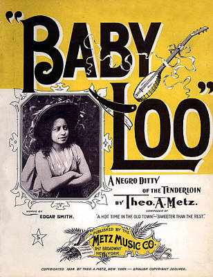Vintage Sheet Music Cover  Circa 1898 Poster by Theo A Metz