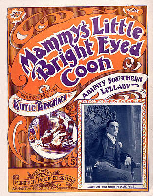 Vintage Sheet Music Cover Poster