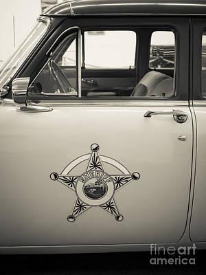 Vintage Sheriffs Police Car Poster by Edward Fielding