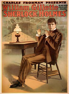 Vintage Sherlock Holmes Poster 1900 Poster