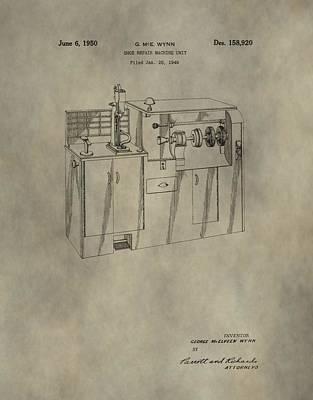 Vintage Shoe Repair Machine Patent Poster by Dan Sproul
