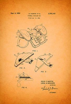 Vintage Shoulder Pad Patent 1956 Poster