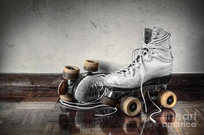 Vintage Skates Poster by Carlos Caetano