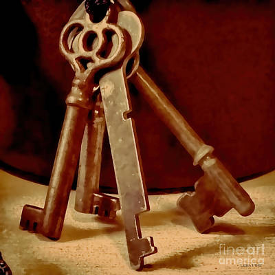 Vintage Skeleton Keys I Poster