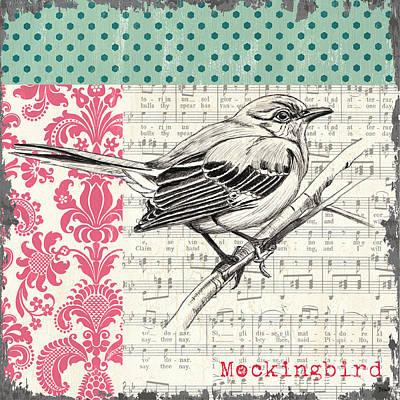 Vintage Songbird 4 Poster by Debbie DeWitt