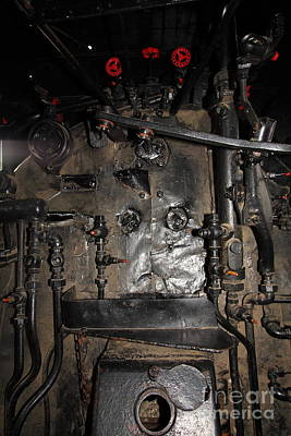 Vintage Steam Locomotive Cab Compartment 5d29253 Poster