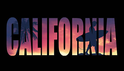 Vintage Style California Postcard Poster