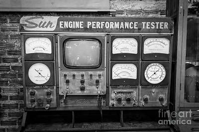 Vintage Sun Engine Performance Tester Poster