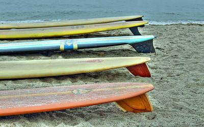 Vintage Surfboard Lineup Poster
