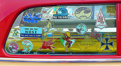Vintage Surfing Decals Poster by Ron Regalado