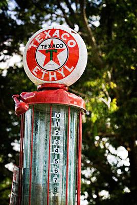 Vintage Texaco Gas Pump Poster