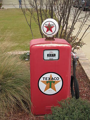 Vintage Texaco Pump Poster
