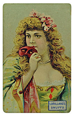 Vintage Tobacco Or Cigarette Card Poster by Susan Leggett
