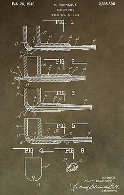 Vintage Tobacco Pipe Patent Poster by Dan Sproul