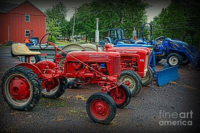 Vintage Tractors Poster by Paul Ward
