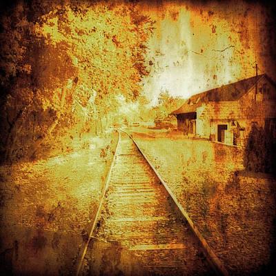 Vintage  Railway Portland Pa Usa Poster