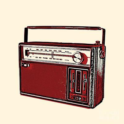 Vintage Transistor Radio Poster