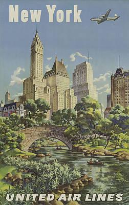 Vintage Travel - New York Poster