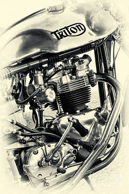 Vintage Triton Poster by Tim Gainey