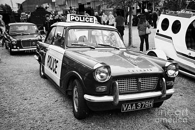 Vintage Triumph Police Car At A Car Rally County Down Northern Ireland Uk Poster by Joe Fox