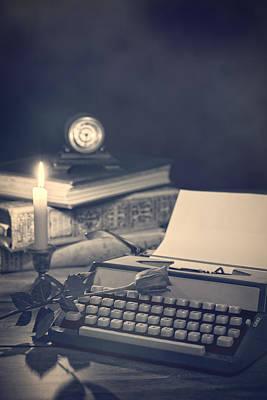 Vintage Typewriter Poster by Amanda Elwell