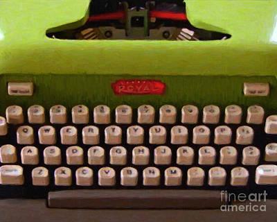 Vintage Typewriter - Painterly Poster