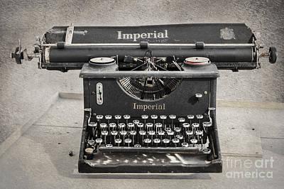 Vintage Typewriter Poster by Svetlana Sewell