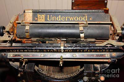 Vintage Underwood Typewriter 5d25836 Poster