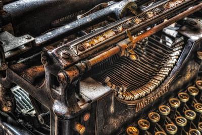 Vintage Underwood Typewriter Poster by Susan Candelario