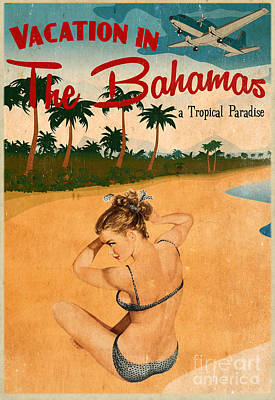 Vintage Vacation Ad Poster by Cinema Photography