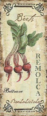 Vintage Vegetables 3 Poster by Debbie DeWitt