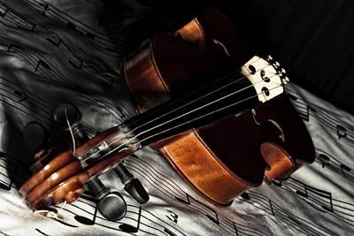 Vintage Violin Poster by Mike Santis