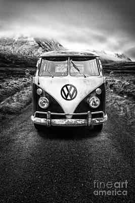 Vintage Vw Camper Poster