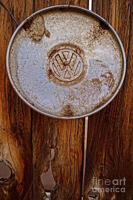 Vintage Vw Hubcap Poster by Kerri Mortenson
