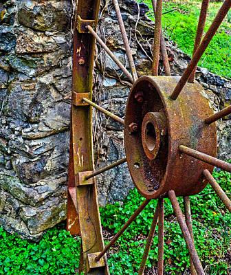 Vintage Wagon Wheel Gate Poster by Sandi OReilly