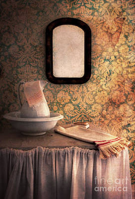 Vintage Wash Basin And Pitcher Poster by Jill Battaglia